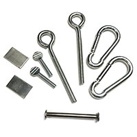 Aluminum Colonial Post Hardware Kit